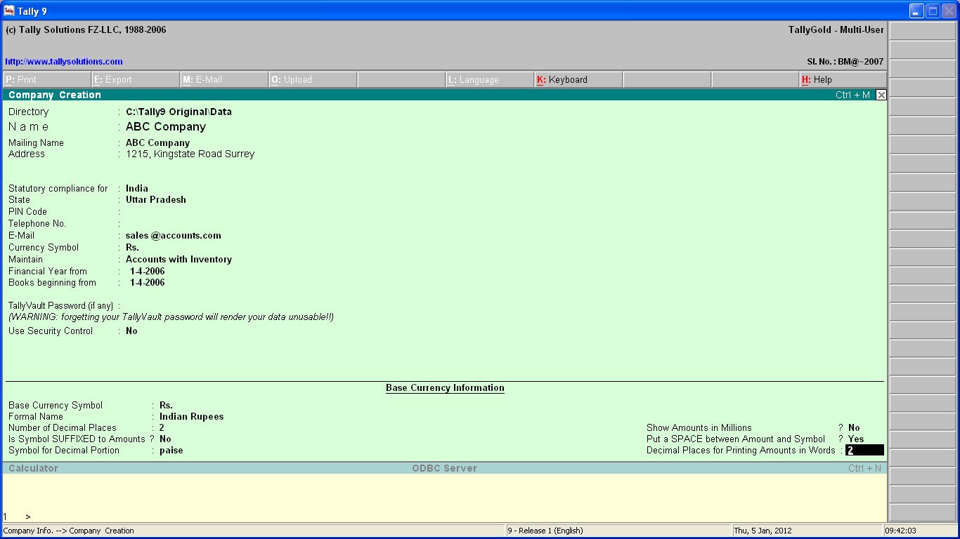 Tally ERP 9 Release 6.5 Crack Serial key Win Mac 64&32 Bit